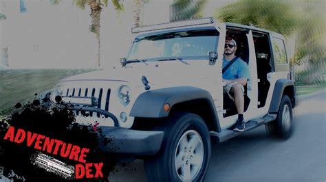 jeep wrangler 4 door top off how to remove jeep wrangler doors youtube
