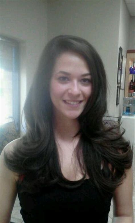 joanne d arc haircut long layered haircut blowout with sfactor products by