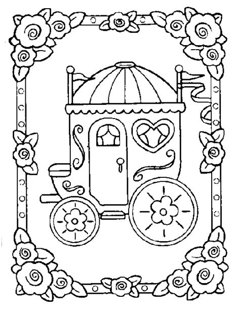 coloring pages and carriage carriage princess coloring pages