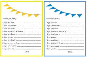 free printable baby wishes for baby shower game templates