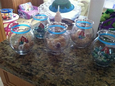 mermaid centerpieces my kid s centerpieces mermaid and mermaid