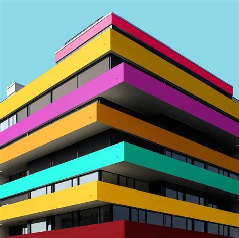 vibrant colorful architecture photography fubiz media