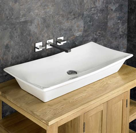 bathroom basin countertop 80cm x 40cm countertop contemporary ceramic rectangular