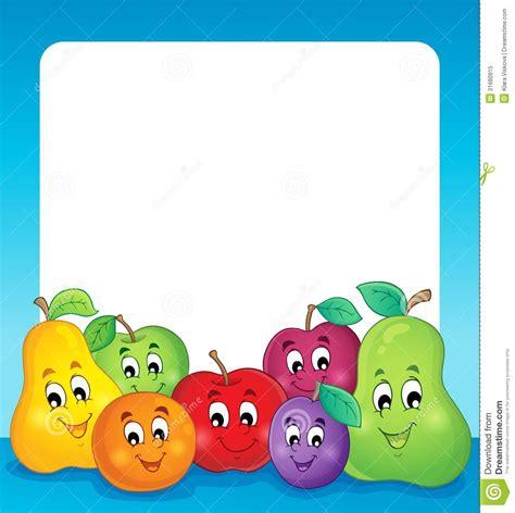 frutti free z price fruit theme frame 1 stock vector illustration of fruit
