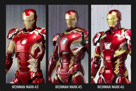 Shf Ironman 46 Iron Mk 46 Civil War s h figuarts iron 46 my anime shelf