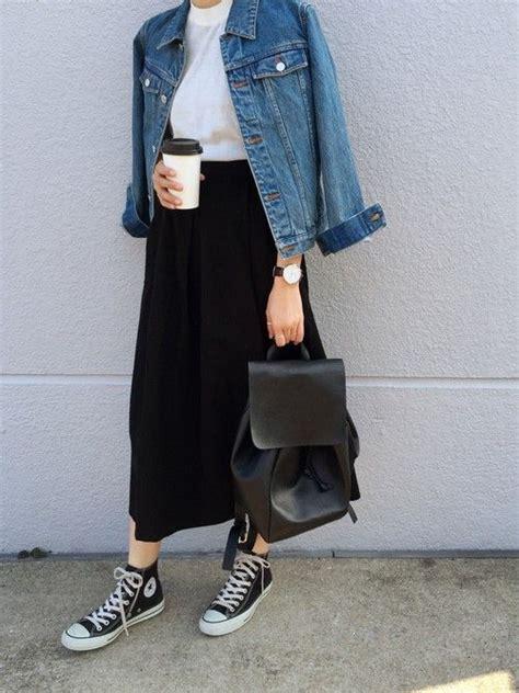 213 1hrm Flat Shoes Wanita 25 best ideas about black midi skirt on pleated skirt midi skirt and