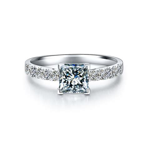 get cheap princess cut antique engagement rings