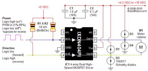 Mc33887apvw Chip Driver Motor H Bridge 5a h bridge dc motor schematic robot room