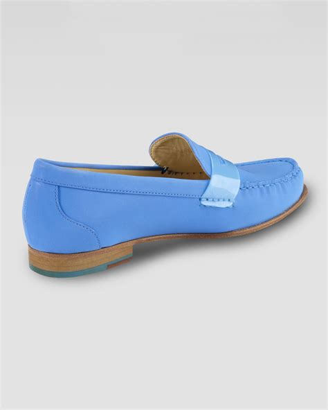 cole haan air loafers cole haan air suede loafer in blue lyst