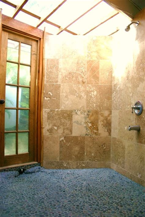 Indoor Outdoor Shower by Indoor Outdoor Showers Tropical Bathroom Hawaii By