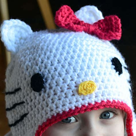 Free Crochet Hat Pattern Hello Kitty
