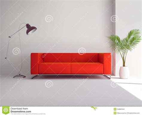 sofa with l and palm tree stock vector image