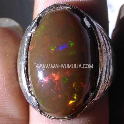 Kalimaya Banten batu cincin kalimaya opal banten kode 371 wahyu mulia