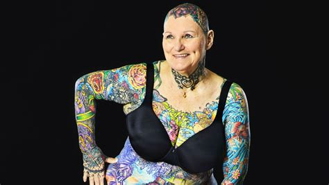 most tattooed woman 69 year becomes the most tattooed with 98