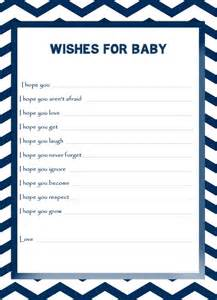 wishes for baby template printable free the freebie of the week blue white chevron