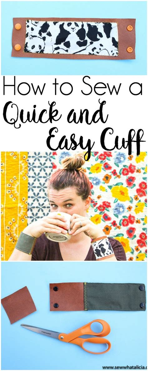 c tutorial quick quick wrist cuff sewing tutorial sew what alicia