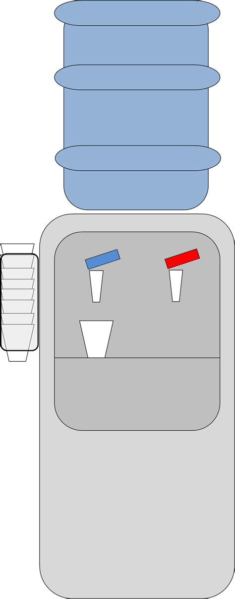 Water Dispenser Vector water machine free images at clker vector clip
