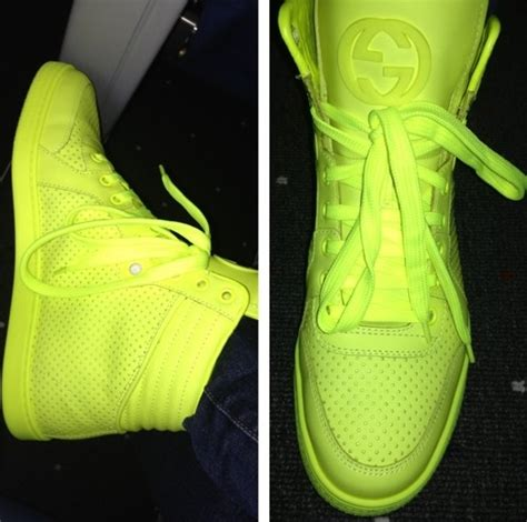 neon green gucci sneakers gucci neon high top shoes shoe is bomb
