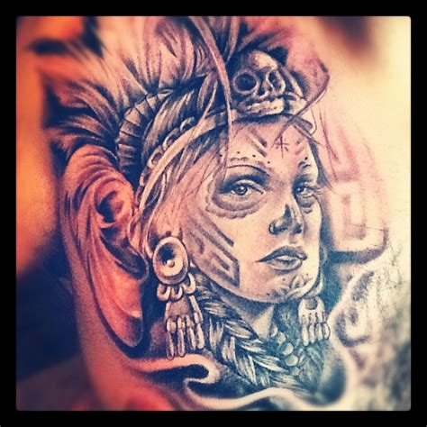 aztec girl tattoo aztec tattoos www pixshark images galleries