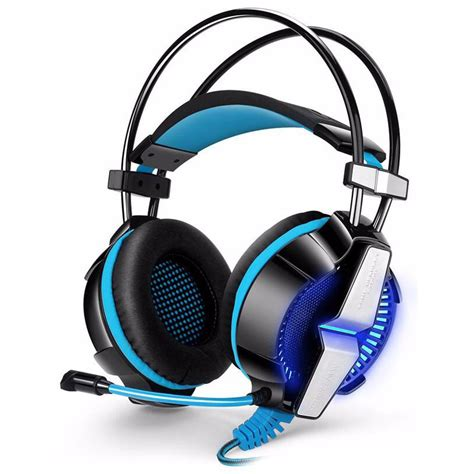 kotion each g7000 pro gaming headset 7 1 anti noise with vibration mode led light blue