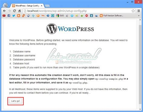 tutorial wordpress mahir tutorial pemasangan wordpress pada locahost menggunakan