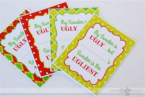 free printable ugly sweater voting ballots the ultimate ugly sweater party party ideas from the