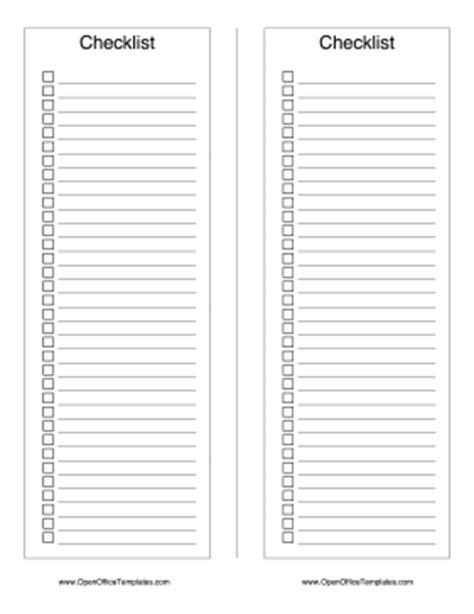 2 Column To Do Checklist Openoffice Template Open Office Checklist Template
