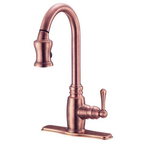 Shop Danze Opulence Antique Copper Pull Down Kitchen Faucet at Lowes.com