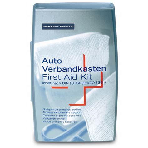 Auto Verbandskasten Norm by Holthaus Auto Verbandkasten Silber Mit F 252 Llung Nach Din 13164