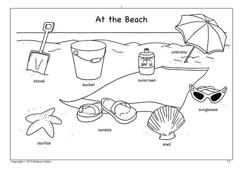 beach themed language arts activities beach worksheet worksheets for all download and share