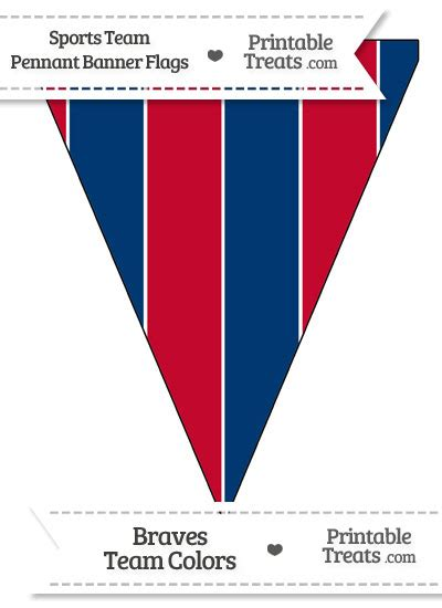 braves colors braves colors pennant banner flag printable treats
