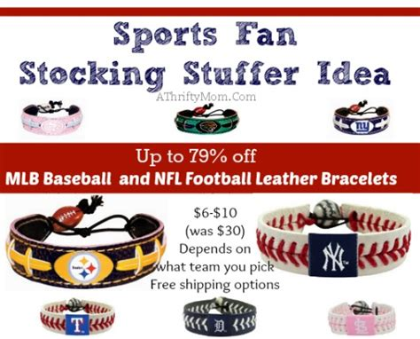 gift ideas for soccer fans mlb baseball and nfl football leather bracelets amazon