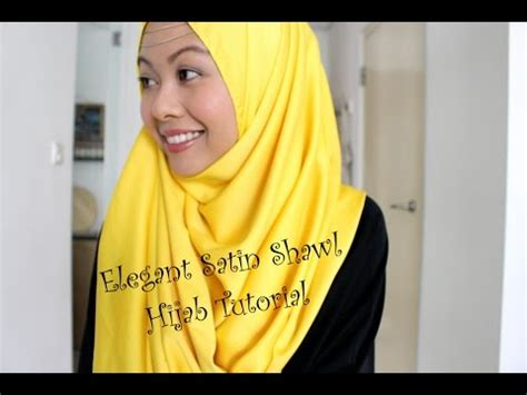 tutorial hijab pashmina satin youtube tutorial shawl satin simple various daily