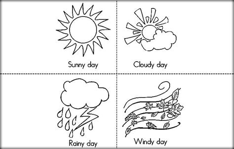 coloring pages sunny weather free printable weather coloring pictures for preschool
