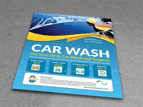 car wash template car wash services flyer templates by owpictures graphicriver