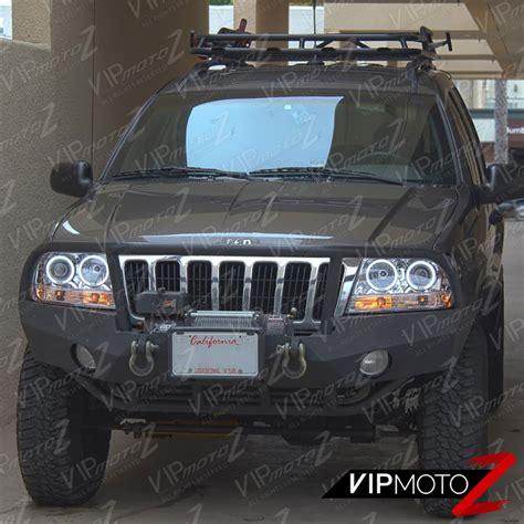 jeep headlights halo 1999 2004 jeep grand cherokee wj wg laredo limited halo