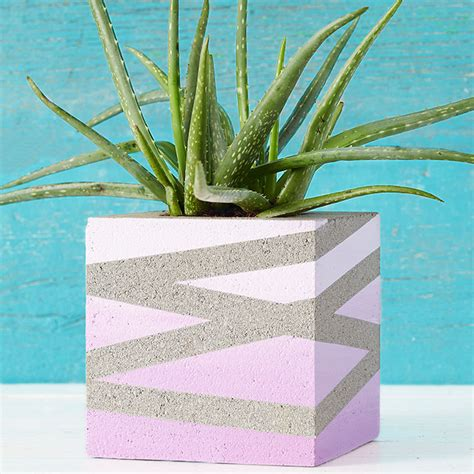 Ideas Design For Cement Planters Concept Concrete Block Planter