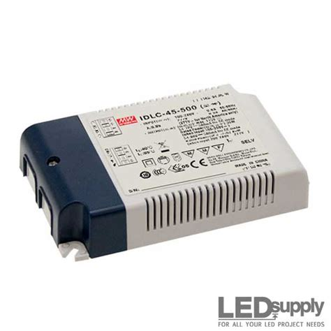 Power Supply Well Led Driver Ldh 45 350 1050da idlc series well 45w cc led driver with 2 in 1 dimming