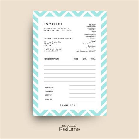 invoice receipt template for ms word model 01