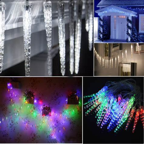 icicle fairy lights indoor multicolor 40 icicle cone drops snowing effect fairy
