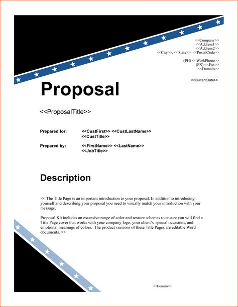 6 project proposal title page project proposal