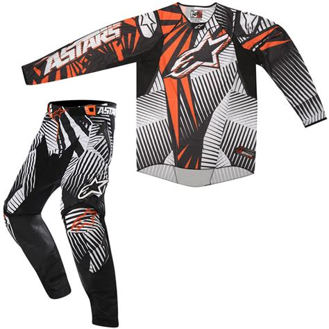 motocross jersey and combo alpinestars 2012 techstar orange mx enduro motocross