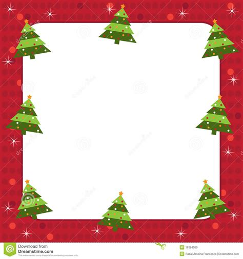 christmas trees frame royalty free stock images image