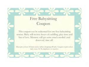Free Template For Coupons by 10 Baby Sitting Coupon Templates Free Sle Exle