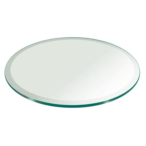 glass table tops replacement glass table top replacement beveled tempered 42 quot diameter 1 2 quot thick home ebay