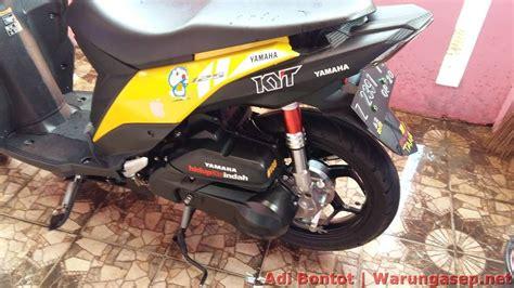 Stang Seher Mio Genuine Mio Soul modifikasi yamaha mio m3 125 jadi maxi scooter ala pembalap adi bontot warungasep