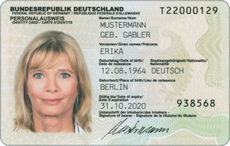 Bundeswehr Bewerbung Frist Germany To Roll Ut Id Cards With Embedded Rfid Chips Infinite Unknown