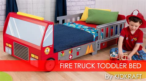 toddler fire truck bed boy s fire truck toddler bed furniture review youtube