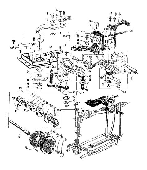 kenmore sewing machine parts diagram feed regulator assembly diagram parts list for model
