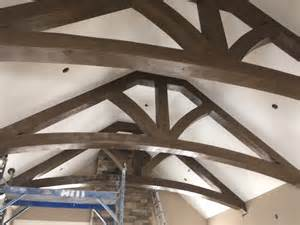 cathedral ceiling faux wood workshop